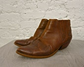 80s THE BEST Leather Ankle Boots - Size 9