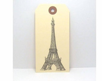 Tags, Eiffel Tower Tags, Paris Tags, French Tags Tags, Large Tags, Gift Tags, Favor Tags, Manila Tags, Wish Tree Tags, Wishing Tree Tags