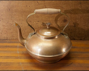 Copper Teapot Vintage Made in Portugal