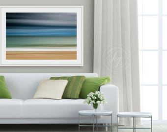 Framed Photograph, Ocean Storm Photo, Martha's Vineyard, Beach Artwork Large Wall Art Nautical Decor Coastal Print Ocean Sea Blue Grey Green
