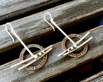 Beyond The Edge Sterling Silver Drop Dangle Earrings