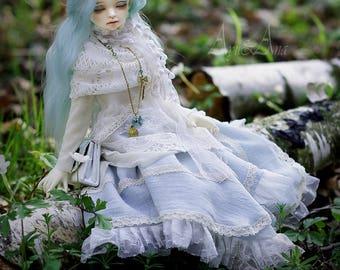 Forest Secret OOAK dress set clothing clothes for bjd msd mnf minifee dollfie dolls size casual mori kei romantic lace style