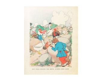 Nursery Wall Art - Foxy Loxy - 1928 Vintage Bookplate Print