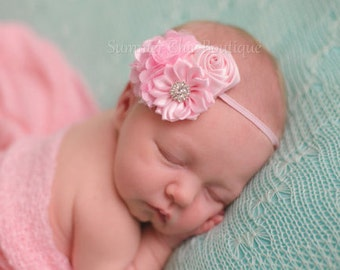 Light Pink Baby Headband, Infant Headband, Newborn Headband, Headband, Light Pink Headband, Pink Baby Headband