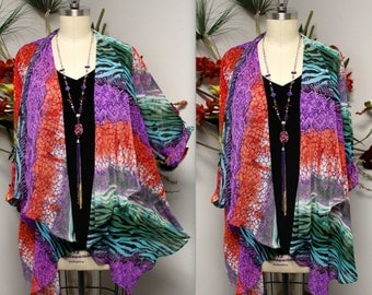 Dare2bstylish Duster, Exclusive Lagenlook Duster, Printed Jacket, Plus size duster, Printed cover up, M to 3Xl, Party Wear, Beach wear.