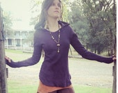 Ready to ship Long Sleeve Hooded Gaia Thermal Organic Hemp and Cotton Dyed with Herbs