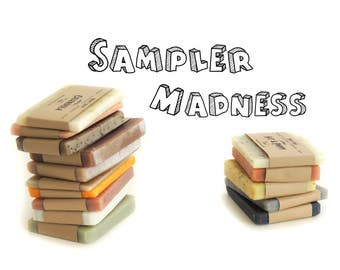 SOAP SAMPLER, Natural Soap, Homemade Soap favor,Vegan Soap,Handmade Soap,Guest Soap,Travel Soap,Soap for sale,Soap sampler set FREE shipping