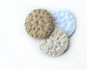 Cotton Face Scrubby Facial Scrubbies Handmade Gifts for Her Stocking stuffer Bath Accessories Bath Accessory