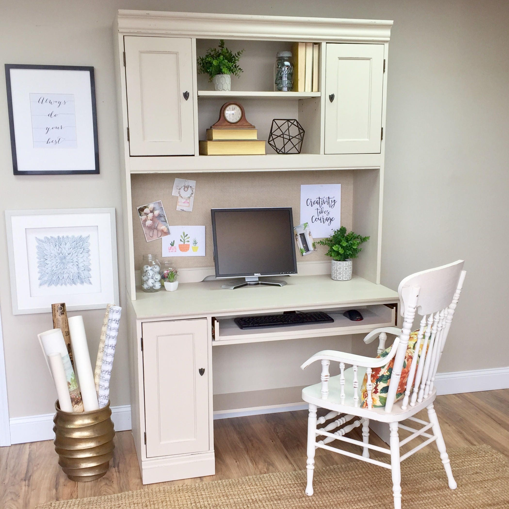 Hutch Desk White Desk With Hutch Home Office Furniture
