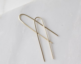Long Gold Earrings Gold Drop Earrings Long Dangle Earrings Gold Dangle Earrings Long Drop Earrings Long Bar Earrings
