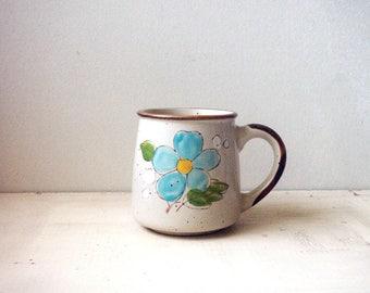 vintage floral mug, vintage coffee mug, norleans korea mug,  vintage stoneware mug, floral coffee mug, stoneware coffee mug, vintage mug