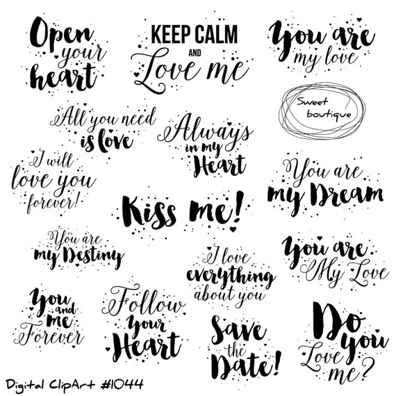 Printable Love Quotes Cool Love Clipart Love Quote Valentines Day Clipart Quotes Love