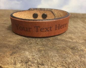mens leather bracelets engraved etsy au