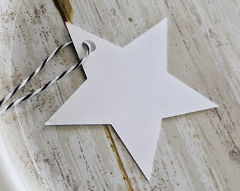 STAR Die Cut, Paper Tag, Gift Tag, Blank Tags, Crafts, Blanks