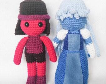 Amigurumi Ruby and Sapphire Crochet Steven Universe Doll