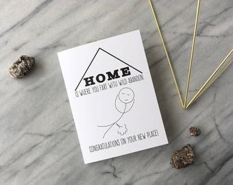 Funny New Home Card Funny Housewarming Card Moving Card Funny Congratulations Card Fart Card Funny Greeting Card Rude Card Silly Friend Card