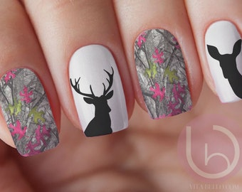 Country nail decals etsy country girl camo nail decal nail design nails press on nail decal prinsesfo Image collections