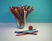 Mid Century Swizzle Stick Grab Bag - 20, 40 or 60 - Classic Ball End - Hard Plastic -  Retro Barware - Vintage 1960's