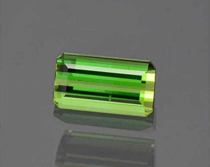 UPRISING SALE! Lovely Vivid Green Brazilian Tourmaline Gemstone 1.45 cts.