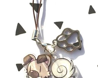Acrylic clear charm Rockruff (Pokémon)