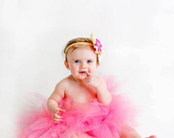 Hot Pink Tutu- Tutu- Princess Tutu- Baby Tutu- Newborn Tutu- Tutu- Toddler Tutu- Birthday Tutu- First Birthday Tutu- Cake Smash Tutu