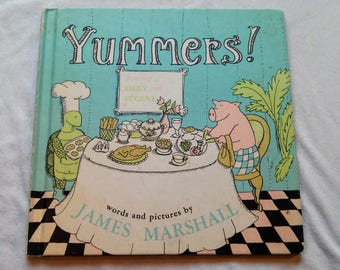 """Vintage 70's Hardcover Kids Book, """"Yummers"""" by James Marshall."""