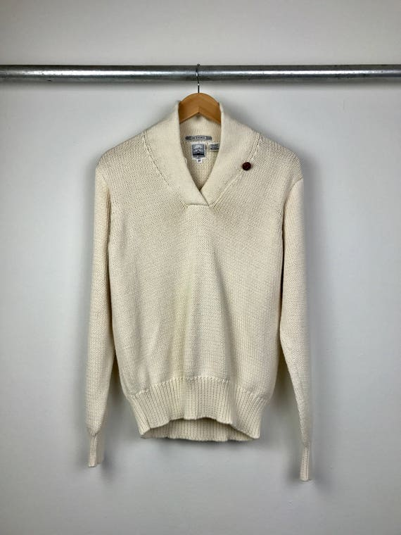 Vintage Women's Nautical Sweater with Toggle