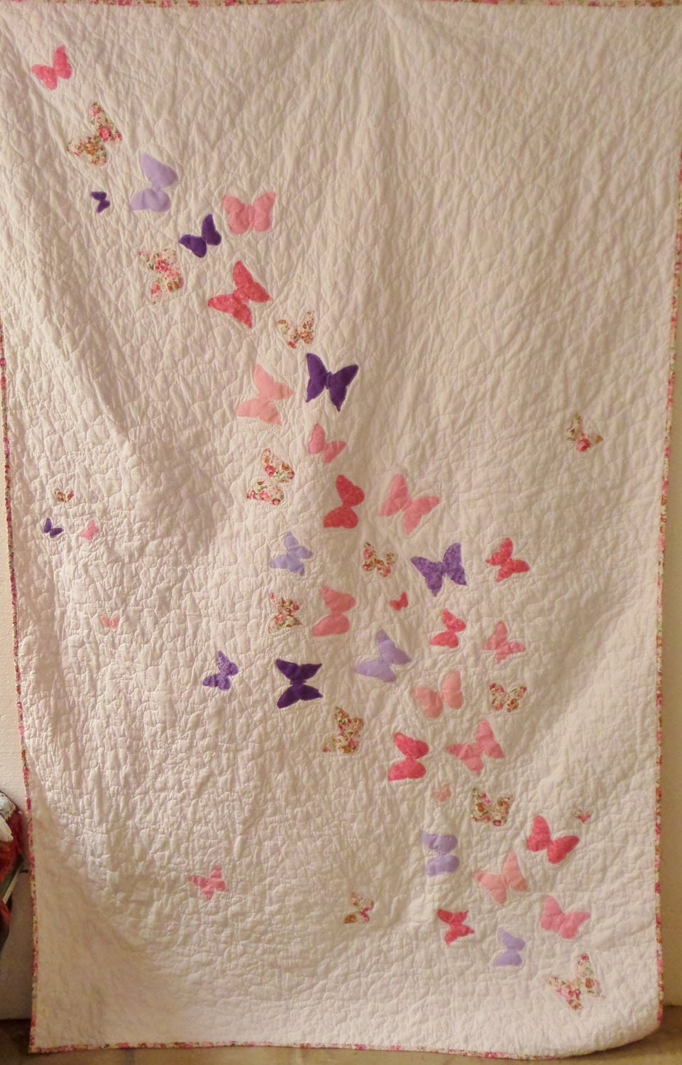 Crib size quilts for sale - Twin Size Girl Bedding Personalized Twin Quilt Butterfly Quilt Butterfly Bedding Homemade Quilts For Sale