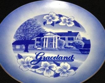 Vintage Elvis Presley Graceland Collectors Plate    (LDT3)