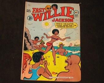 1976 Comic Book, Fast Willie Jackson, #6 August 77, The Black Archie, Bertram Fitzgerald, Old Comic Book, Comix, Rare Comic, Vintage Comics