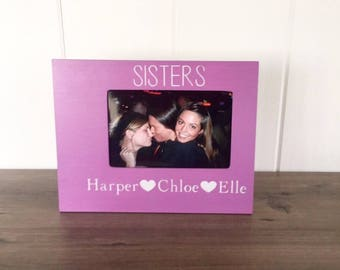 personalized sister picture frame gifts for sister sister birthday gift new sibling gift big sister get promoted sister photo gift
