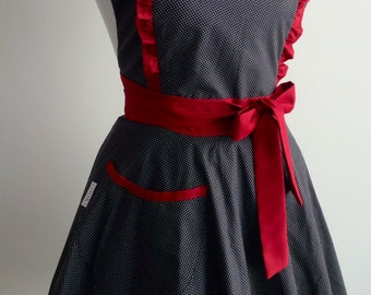 Retro sweetheart apron| Cute apron|Pin up apron|Hostess apron|FREE SHIPPING