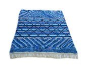 7'X5' ft / Handmade Moroccan rug Beni Ourain 100 Wool / Azilal Rug / Boucherouite Rug / Beni Ouarain / Moroccan Kilim