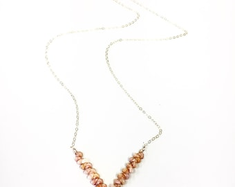 Ni'ihau V-shaped necklace on a gold fill or SS cable chain