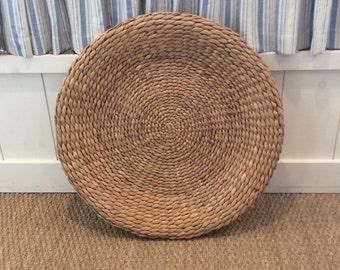 Large Woven Basket Tray