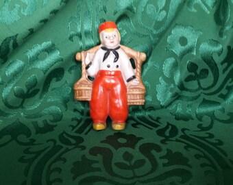Occupied Japan Chalkware Dutch Boy