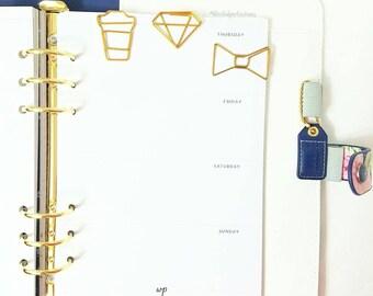 Gold Coffee Paper Clip - Coffee Cup  Paper Clip, Planner Accessories, Page Markers, Use w/ Happy Planner, Midori Travelers, Kikki K, Filofax