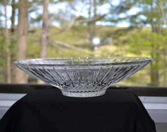 Mid Century Modern Glass Salad Bowl - Sleek Lines