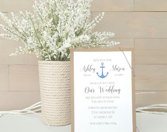 Nautical Wedding Invitations, Destination Wedding