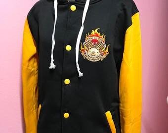 Roadhog Overwatch Inspired Varsity Hoodie Jacket