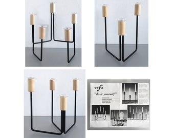 Vtg VEFA MODERNIST MODULAR Candle Holder System Do It Yourself 1960s - Excellent Condition !