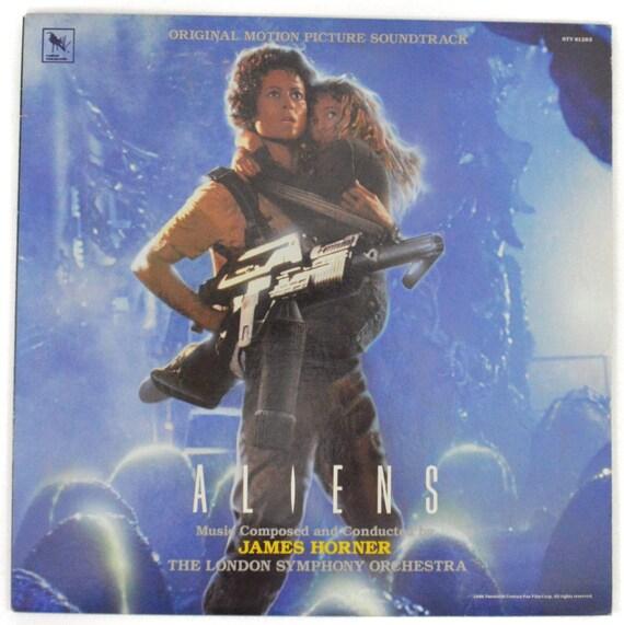 Vintage 80s Aliens James Horner Original Motion Picture Soundtrack Album Record Vinyl LP
