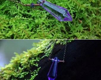 Lavender Ice Princess - Crystal Necklace