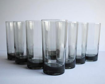 25% OFF SALE - Mid Century Highball Glasses, s/8