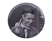 """MR. ROGERS, middle finger — 1.25"""" Button, Neighborhood, Pittsburgh, Pride, Fuck You, 70s, Memorabilia, Home Town, Hero, Grunge, Funny, Pin"""