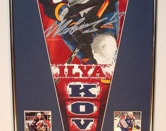 Atlanta Thrashers Ilya Kovalchuk Pennant & Cards...Custom Framed!