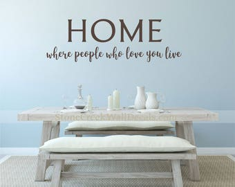 Home Where People Who Love You Live Home Wall Decal Wall Vinyl Decal Family  Living Dining Part 70