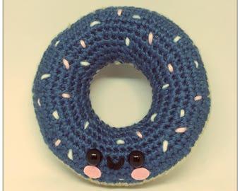 Chibi Amigurumi Donut Plush Crochet Toy