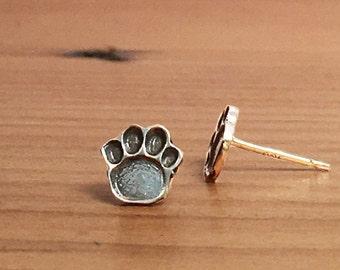 Dog Paw Earrings, Pet Lover Gift, Animal Lover, Paw Print Earrings, Paw Print Studs, Paw Stud Earrings, Paw Earrings, Dog Lover Gift, E260s