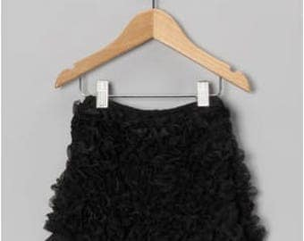 Black Baby Girl Booty Chiffon Ruffle Shorts or Bloomers on SALE!!
